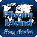 Pitcairn Island flag clocks icon