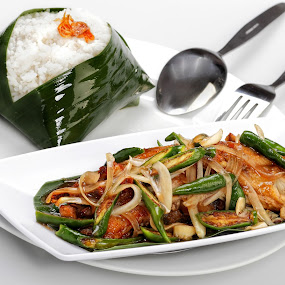 the gongso rice  by Sesar Arief - Food & Drink Plated Food ( indonesian, plated, rice, food, gongso, asian )