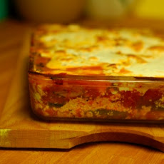 Roasted Eggplant Lasagna with Broiled Tomato Sauce