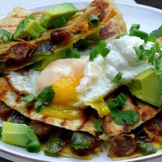 Cheesy-Sausage-Jalapeno Breakfast Quesadillas