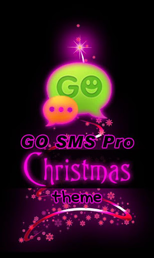 GO SMS Pro Christmas Purple