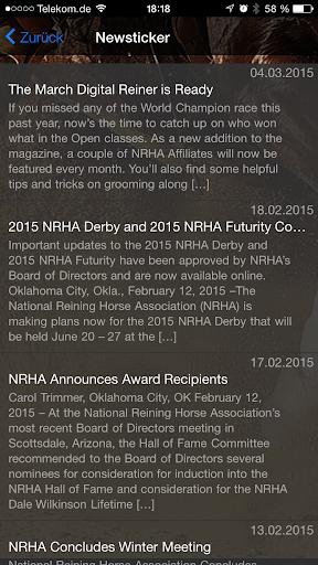 Reining App - screenshot