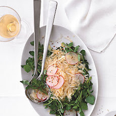 Celery Root, Radish, and Watercress Salad with Mustard Seed Dressing