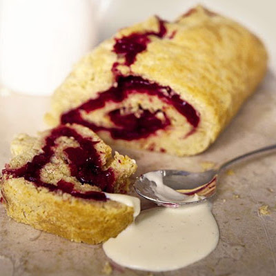 Steamed Cranberry Roly-poly