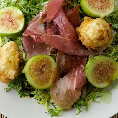 Fried Goat Cheese and Fig Salad