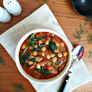 Chickpea Soup With Spinach And Sausage