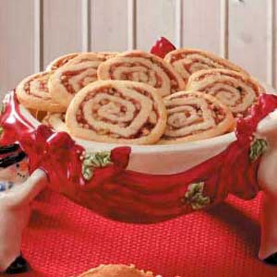 Strawberry-Nut Pinwheel Cookies