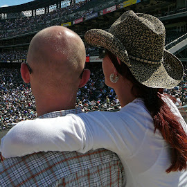 Coors Field, Denver by Paul Dineen - Sports & Fitness Baseball ( cowgirlhat, coorsfield, baseball, facingaway, pda,  )