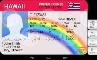 Screenshot of Fake ID Generator