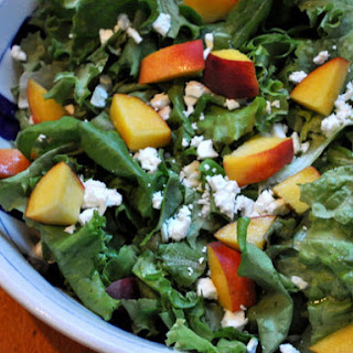 Butter Lettuce Salad with Peaches and Feta