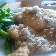 Baked Fish With Lemon Mushroom Sauce