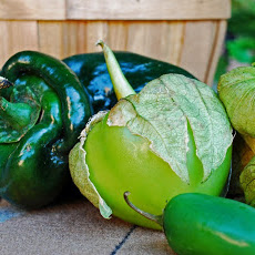 Monster Stuffed Poblano Peppers with Tomatillo Salsa