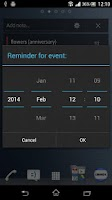 Screenshot of Notes Widget