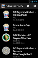 Screenshot of Fussball im deutschen FreeTV