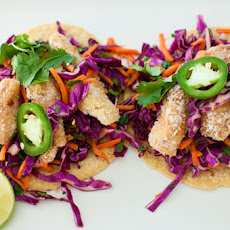 Panko-Crusted Fish Tacos with Red Cabbage Slaw