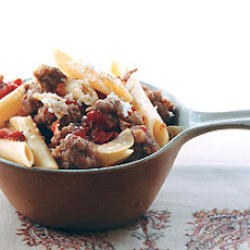 Penne with Sausage and Tomato Sauce