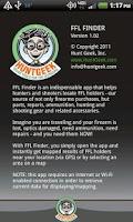Screenshot of FFL Finder