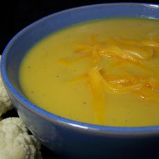Cauliflower-Cheddar Soup
