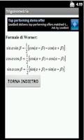 Screenshot of Formule Trigonometriche