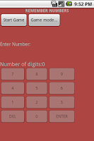 Screenshot of Remember Numbers