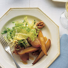 Roasted Pear and Shallot Salad With Sherry-Dijon Vinaigrette