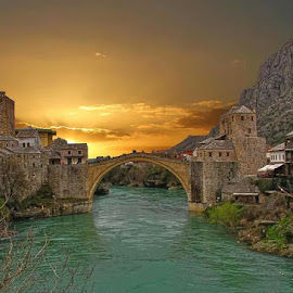 Mostar by Christian Heitz - City,  Street & Park  Historic Districts (  )
