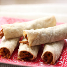 Crock-Pot Mexican Pork and Baked Taquitos