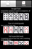 Screenshot of Poker Cheat Sheet