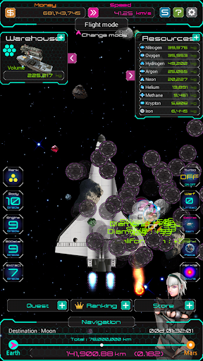 Space Clicker - secret of Mars - screenshot