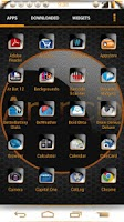 Screenshot of CM AOKP Theme Arancio