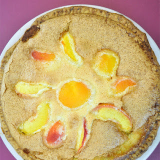 Brown Sugar Peach Custard Pie