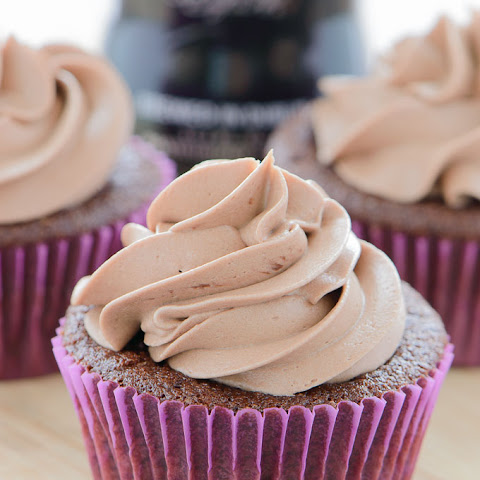 Nutella Frosted Chocolate Guinness Cupcakes