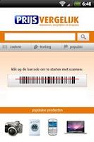 Screenshot of Prijsvergelijk.nl