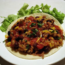 Barley, Black Bean and Corn Burritos