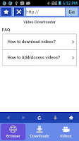 Screenshot of Video downloader