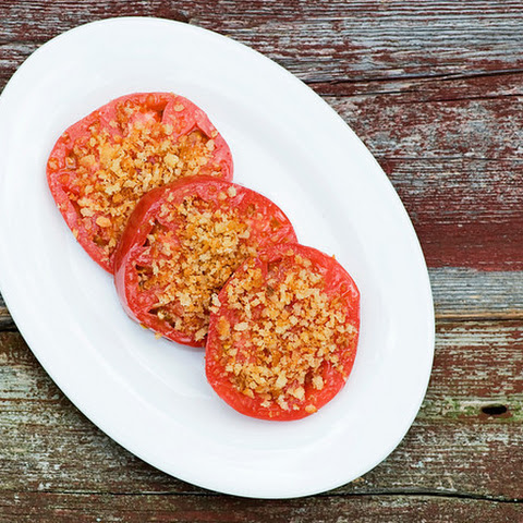 Olive Oil Tomatoes with Crispy Breadcrumbs