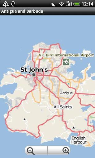 Antigua and Barbuda Street Map