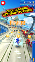 Screenshot of LINE SONIC DASH S