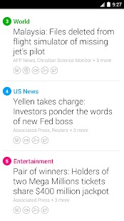 Yahoo News Digest Screenshot