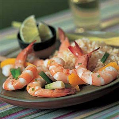 Steamed Lemon Grass Shrimp