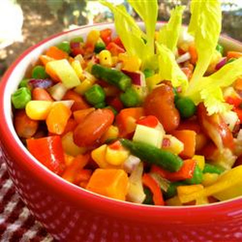 Overnight Vegetable Bean Salad