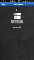 Screenshot of Algebraic Calculator