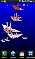 Screenshot of Origami/Tsuru LiveWallpaper