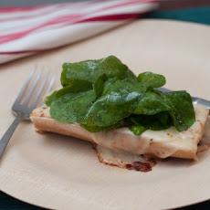 Open-Faced Grilled Cheese with Green Salad