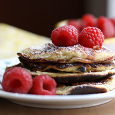 Sweet Almond Pancakes with Fresh Raspberries