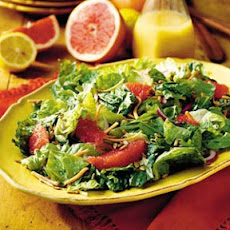 Salad with Red Grapefruit-Lemon Vinaigrette