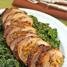 Fennel-Stuffed Pork Loin with Miso-Marmalade Glaze