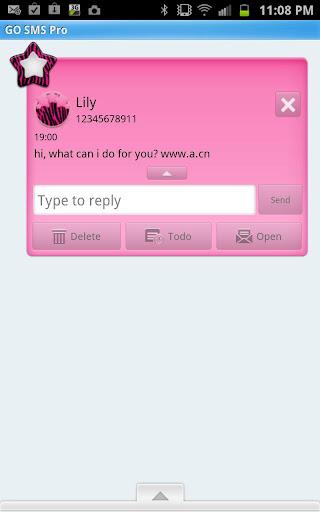 【免費個人化App】GO SMS - Zebra Star Clouds-APP點子