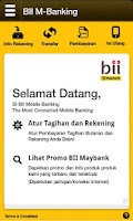 Screenshot of BII Mobile Banking