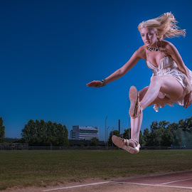 | Fashion in Long jump | by Photo Jovan - Sports & Fitness Other Sports ( flash, fashion, athletics, longjump, 1/8000 sec., elincrhom,  )
